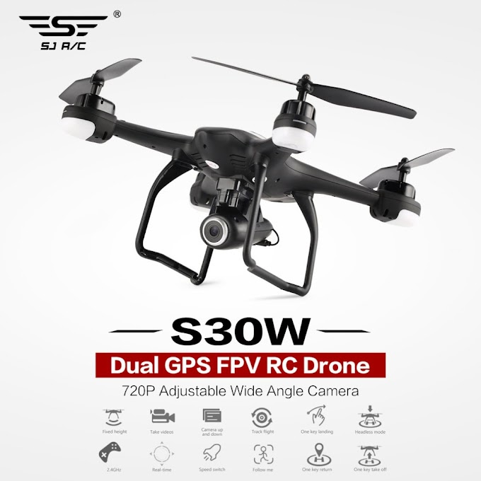 SJ RC S30W 2.4G Dual GPS Positioning FPV RC Quadcopter Drone with 7201080PAdjustable Wide Angle Wifi Camera Follow Me Hovering