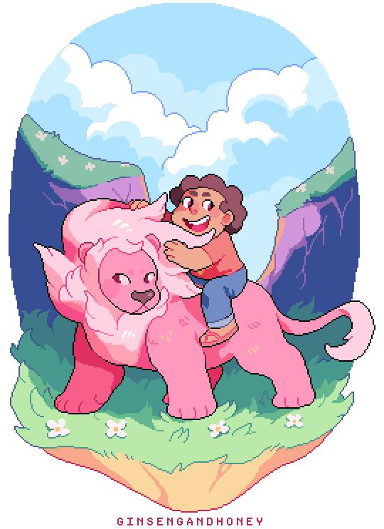 steven & lion!!