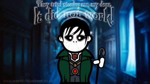 Mr. Barnabas Collins. A vampire.