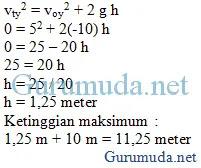 Contoh soal gerak parabola 5