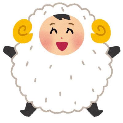 フリー素材 羊の着ぐるみを着た女の子のイラスト元気な雰囲気が