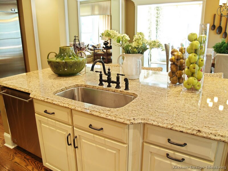 Cream Colored Kitchen Cabinets With Granite Countertops The House Decorating