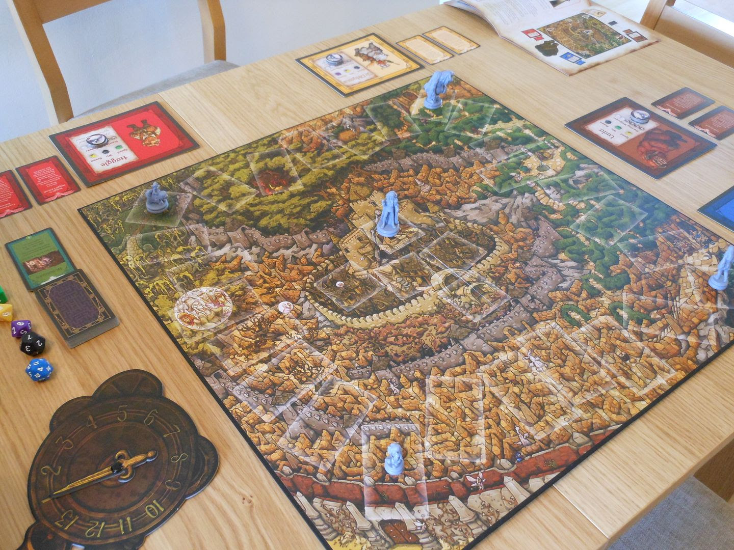 Jim Henson's Labyrinth: The Board Game set up and ready to play.