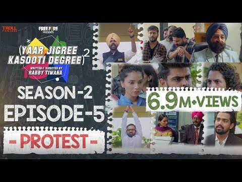 Yaar Jigree Kasooti Degree Season 2 | Episode 5 –PROTEST | Latest Punjabi Web Series 2020
