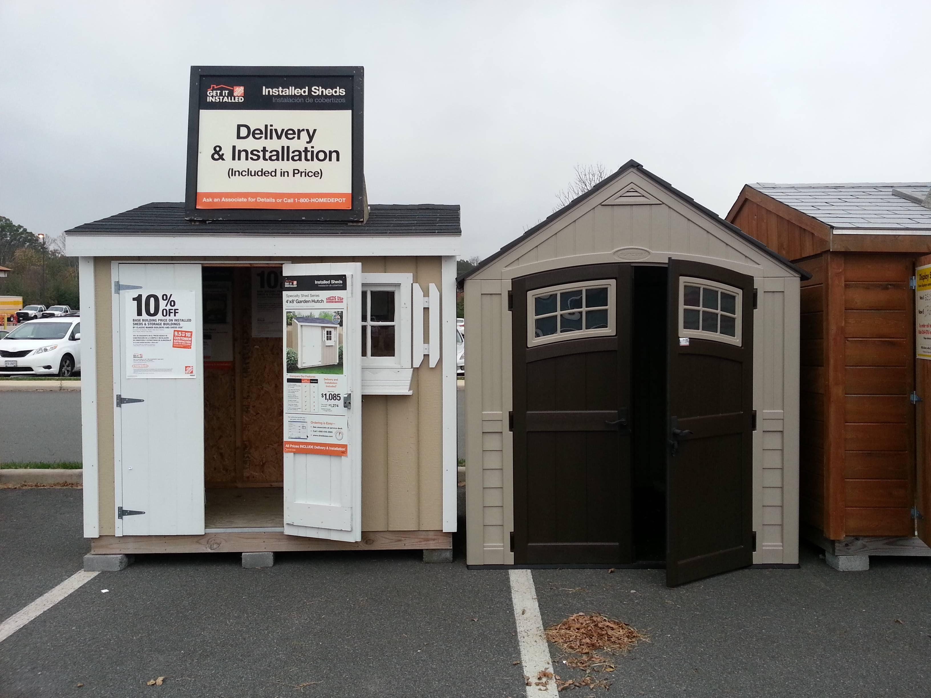 Home depot sheds installed