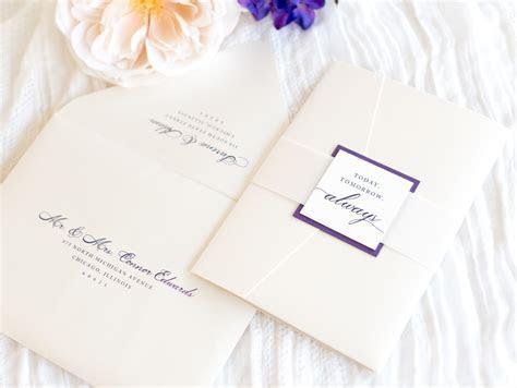 elegant & formal pocketfold wedding invitation with satin