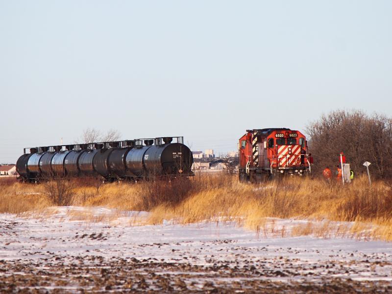 CP 6023 in Winnipeg