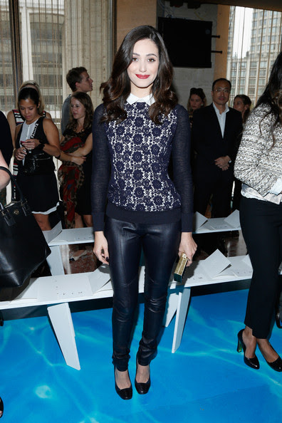 Emmy Rossum - MBFW: Front Row at Tory Burch