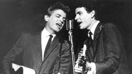 The Everly Brothers, Don and Phil, perform on July 31, 1964.