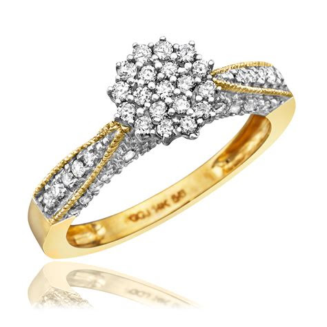 carat diamond trio wedding ring set  yellow gold