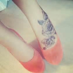 rose tattoo foot heels