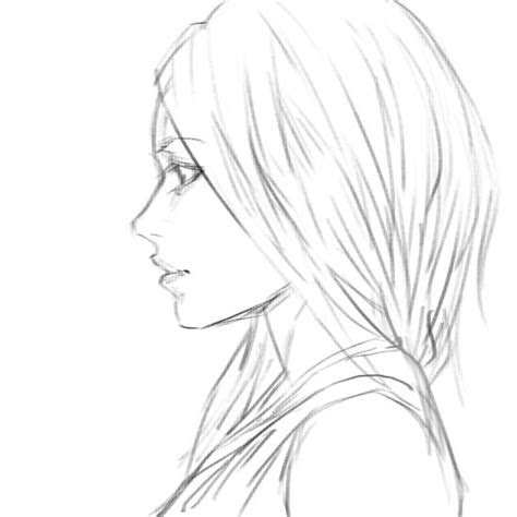 girl side view sketch  bunsyo  deviantart art stuff