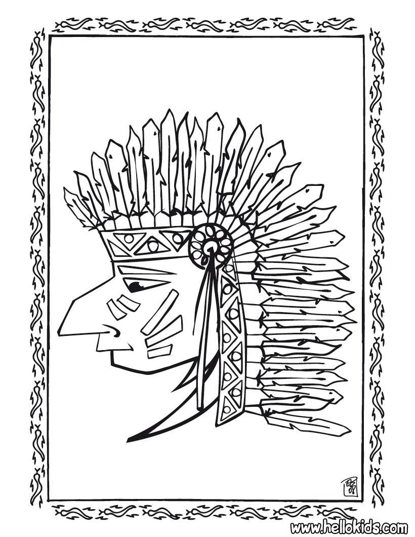 schön indianer malvorlagen ausdrucken  top kostenlos