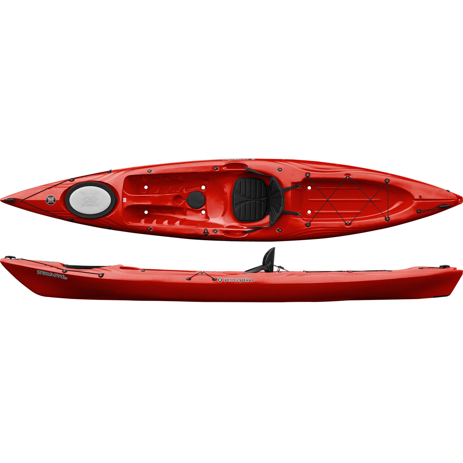 Perception Triumph 13 Sit On Top Kayak - Red - Sit on Top Kayaks