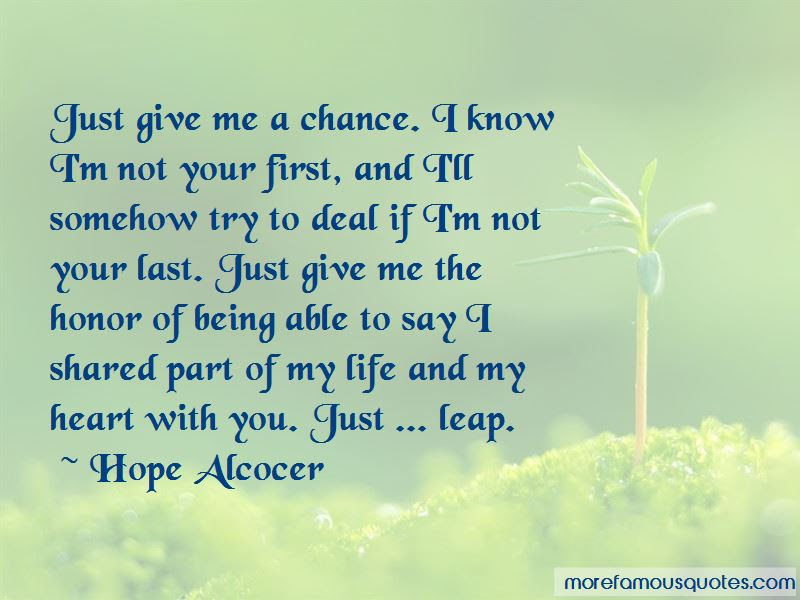 Give Your Heart A Chance Quotes Top 12 Quotes About Give Your Heart