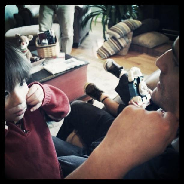 Ryan teaching Niko to make faces