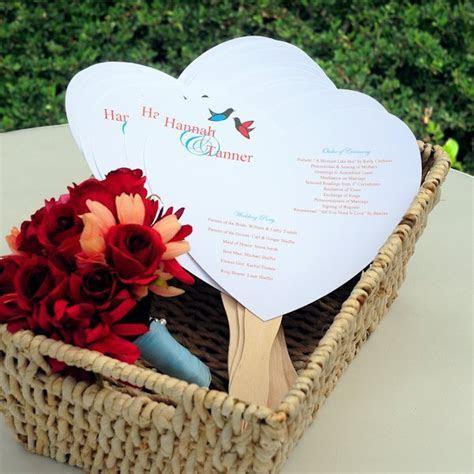 Do it Yourself Heart Fan Wedding Programs Kit
