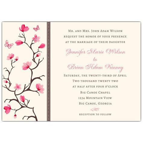 Cherry Blossom Dots Wedding Invitations   PaperStyle