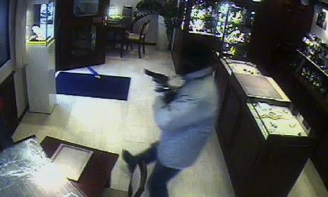 CCTV footage of jewel heist