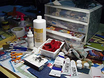 materials used for collage