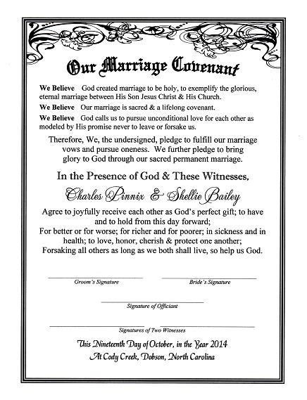 'With Reverent Hearts' Covenant of Marriage Certificate