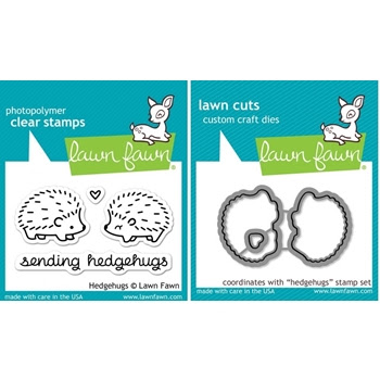 Lawn Fawn SET LF214HHG HEDGEHUGS Clear Stamps And Dies
