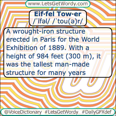 Eiffel Tower 03/31/2013 GFX Definition of the Day