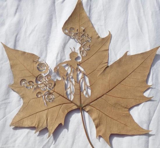 Σκαλισμένα φύλλα δέντρων