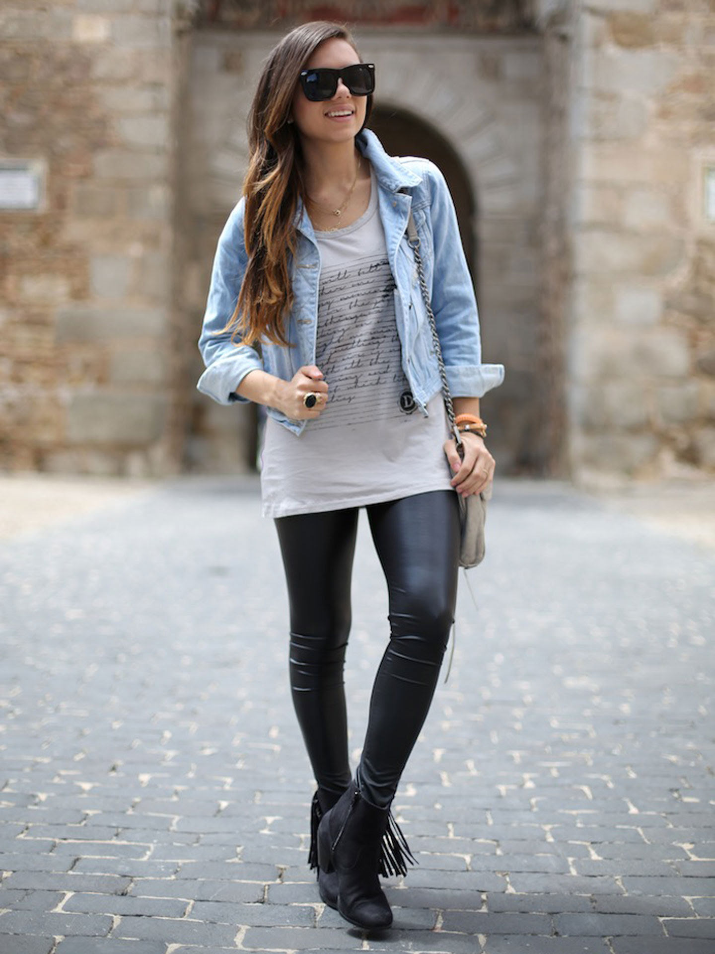 how to wear leather leggings  seventeen style council