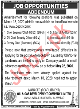 Deputy Chief Accounts & Internal Auditor Jobs in OGDCL