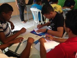 Cursos profissionalizantes são realizados em Belágua (Foto: Clarissa Carramilo/G1)