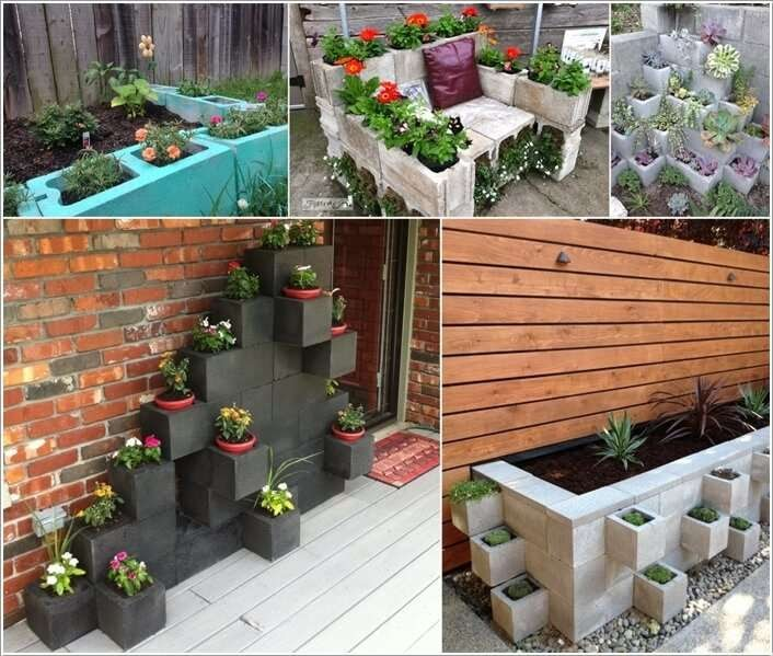 10 awesome ideas to design a cinder block garden peaceful resistance sustainable living and for Painting cinder blocks for garden