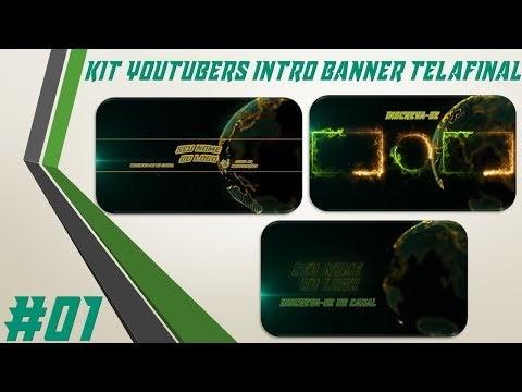 Kit Youtuber #01 Intro Banner Tela Final Para Youtubers