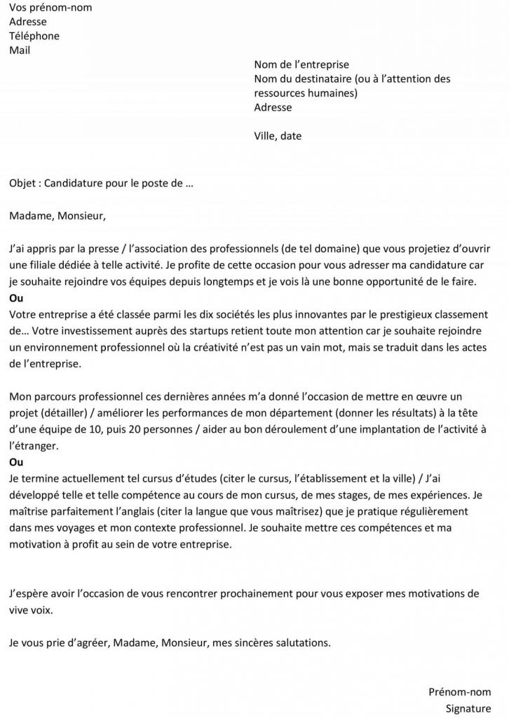 Lettre De Motivation Rã Orientation Licence Informatique