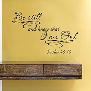 Amazon.com: Be still and know that I am God Vinyl Wall Decals Quotes Sayings Words Art Decor ...