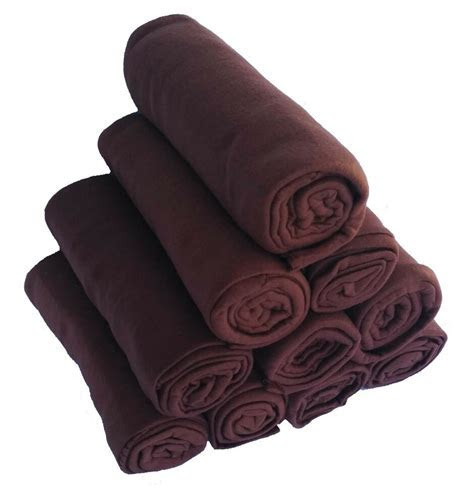 Brown Fleece Throw Blankets 50x60 inch Bulk Wholesale