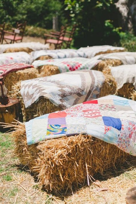 A complete guide to a hay bale wedding from seating and