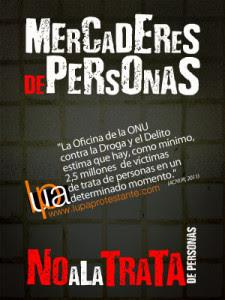 "Banner ""No a la trata"""