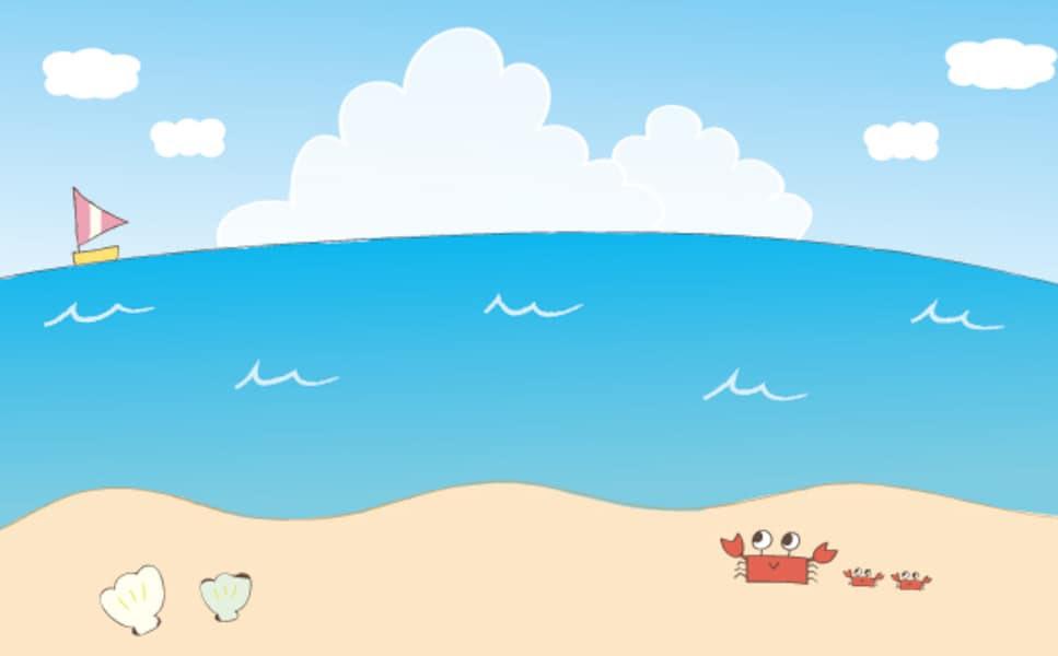 海のかわいい無料イラスト集背景モチーフ It News