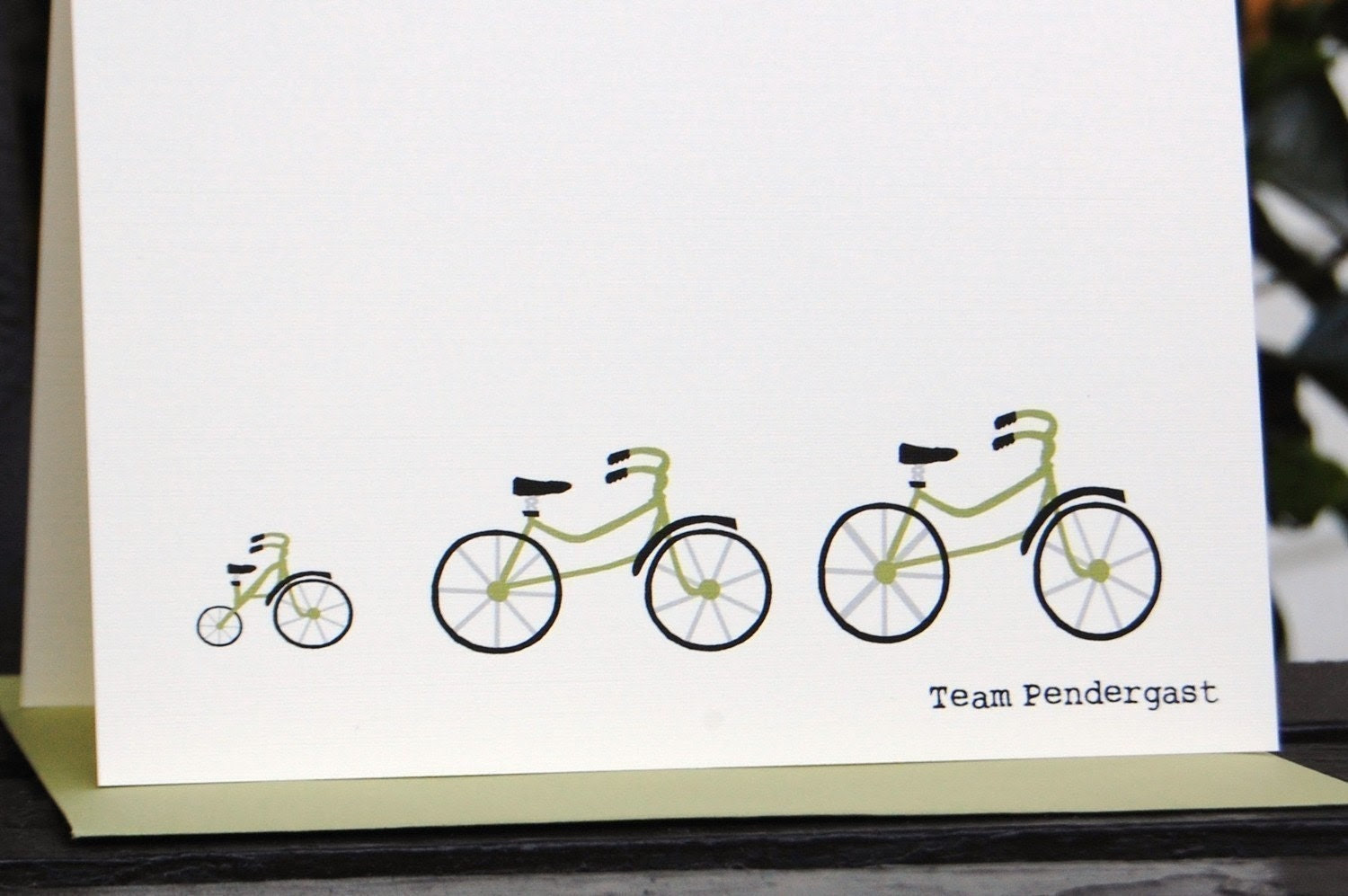 Tour de Family - Personalized Folded Note Cards