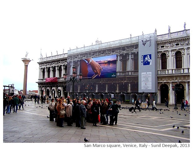 Venice walking tour, San Marco square, Italy - images by Sunil Deepak