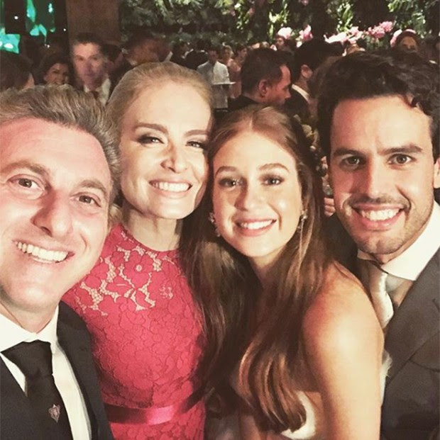 Luciano Huck, Angélica, Marina Ruy Barbosa e Xande Negrão (Foto: Reprodução/ Instagram)