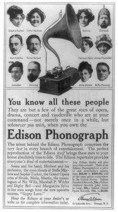 Edison Advert featuring Ada Jones