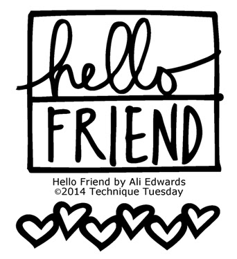 Technique-Tuesday-Hello-Friend-Clear-Stamps-Medium