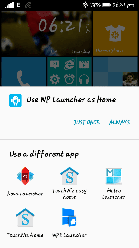 Windows 8 interface on Android - Launcher 8 (2)
