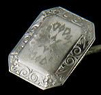 Antique platinum and diamond cufflinks. (J8696)