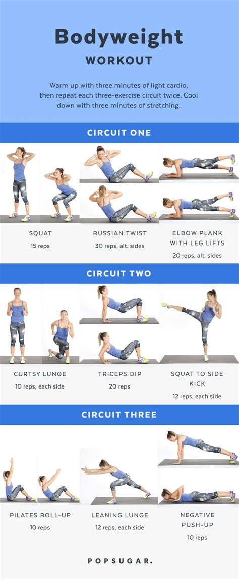 bodyweight workout  women popsugar fitness photo