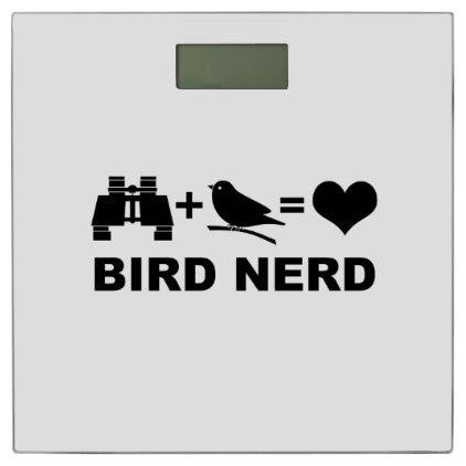 Birder Birdwatcher Funny Bird Nerd Bathroom Scale
