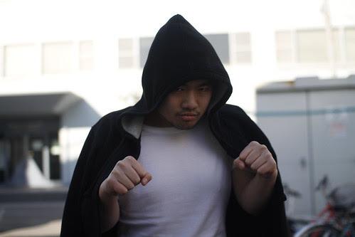 Pichaya as the hobo boxer