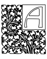 Alphabet Garden A coloring page